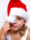 Child with santa hat Royalty Free Stock Photography