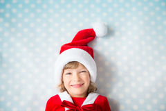 Child in Santa hat Royalty Free Stock Image