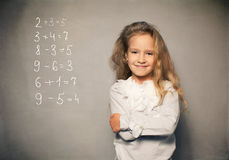 Child about school board Royalty Free Stock Photos