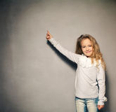 Child about school board Stock Photo
