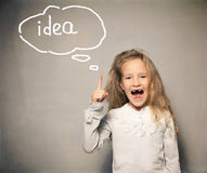 Child about school board Stock Image