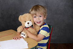 Child in School Classroom Stock Images