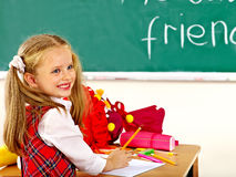 Child with school cone. Stock Photography