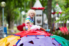 Child on school playground. Kids play. Stock Photography