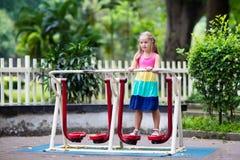 Child on school playground. Kids play. Royalty Free Stock Image