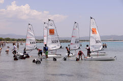 Child School Sailing In Sardinia Royalty Free Stock Images