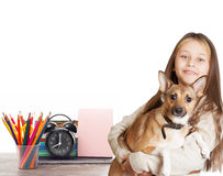 Child and  school set Stock Photography