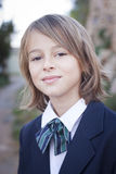 Child in school uniform Royalty Free Stock Photography