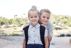Child in school uniform Royalty Free Stock Photo