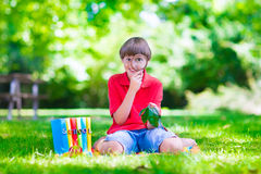 Child in school yard Stock Images