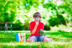 Child in school yard Stock Photography