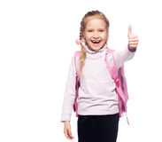 Child with schoolbag Stock Photography