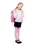 Child with schoolbag Royalty Free Stock Images