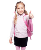 Child with schoolbag Royalty Free Stock Image