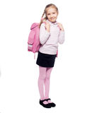 Child with schoolbag Stock Images