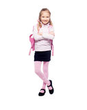 Child with schoolbag Stock Photo