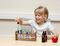 Child scientist Royalty Free Stock Photography