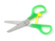 Child scissors Stock Photo