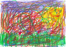 Child scribble Royalty Free Stock Photos