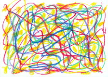 Child scribble Stock Photo