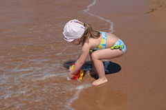 The child at the sea Stock Photography