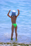Child and the sea Royalty Free Stock Image