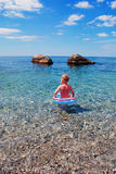 Child in the sea Royalty Free Stock Photography
