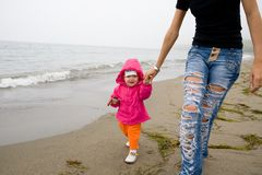 Child & sea Stock Image