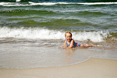 Child and sea Royalty Free Stock Photography