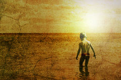 Child and the sea Royalty Free Stock Photos