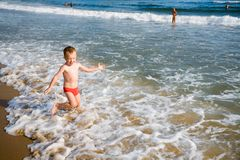 Child & sea Royalty Free Stock Image