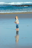 Child by the sea Royalty Free Stock Image