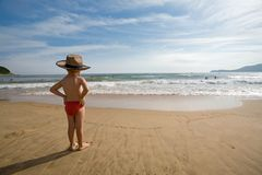 Child & sea Royalty Free Stock Images