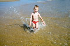 Child & sea Royalty Free Stock Photography