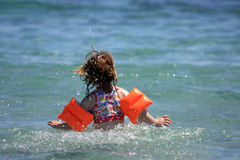 Child on the sea Royalty Free Stock Photos