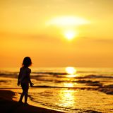 A child by the sea Stock Image