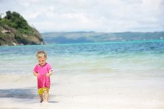 Child on sea background Stock Images