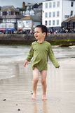 Child at sea port Royalty Free Stock Photography