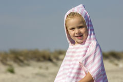 Child at the sea side stock image