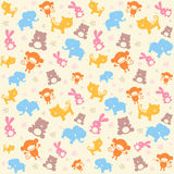 Child seamless pattern with animals. Stock Photography