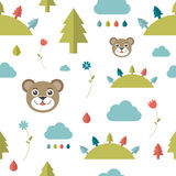 Child seamless pattern. Stock Image