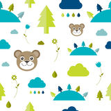 Child seamless pattern. Stock Photos
