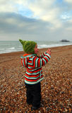 Child seaside Stock Image