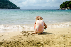 Child at seaside Stock Photography