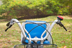 Child seat on the bicycle Stock Images