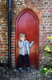 Child secret door Royalty Free Stock Photography