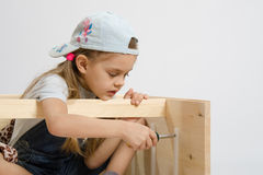 Child secures runners drawers Stock Photos