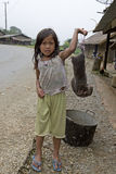 Child sell mole for a meal, Laos Stock Photo