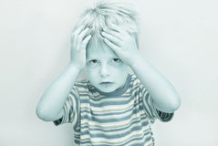 Child with serious expression. Royalty Free Stock Photography