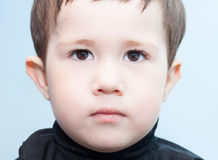 Child serious look Royalty Free Stock Photography